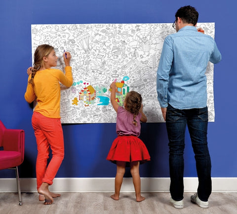 Omy montreal quebec canada affiche XXL à colorier fantastic  poster coloriage dessin enfants kids drawing coloring