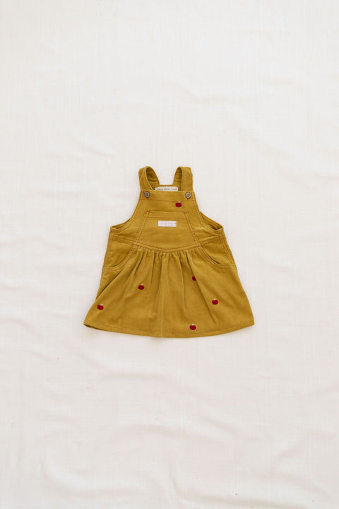 robe chasuble pinafore jumper chartreuse apple pomme fin & vince fw20 aw20