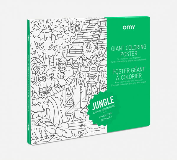 Omy Montreal Canada affiche géante à colorier jungle giant coloring poster