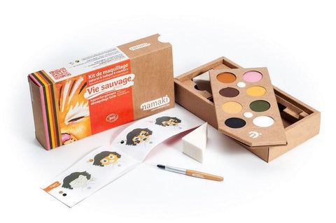 Vie sauvage Wildlife ensemble kit de 8 couleurs colors namaki montréal québec canada montreal quebec maquillage cosmétiques cosmétique make-up dress-up déguisement enfants kids biologique organic natural naturel