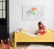 Omy montreal quebec canada affiche géante a colorier giant poster coloriage dessin enfants kids drawing coloring