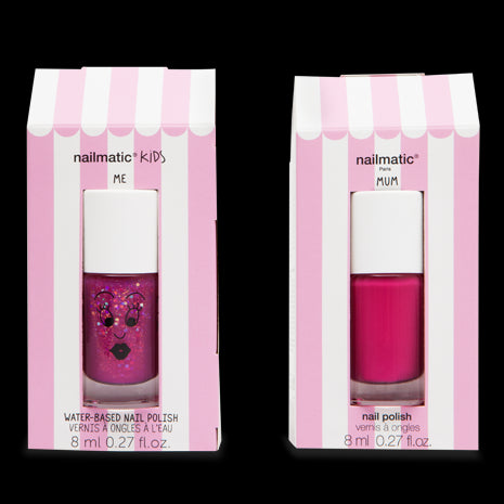 Nailmatic Montreal Quebec Canada coffret mum&me mom & me vernis à ongles framboise raspberry pink sheepy & nail polish set washable lavable for kids pour enfants rose pink