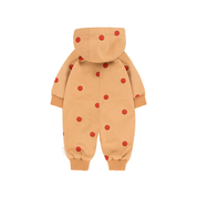 Tiny Cottons Tinycottons Montreal Quebec Canada tinyblockparty tiny block party ss19 'happy face' one piece camel/red baby une-pièce outerwear extérieur SS19-263 C86