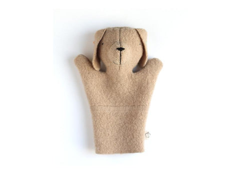 ouistitine montreal marionnette chiot hand puppet puppy dog