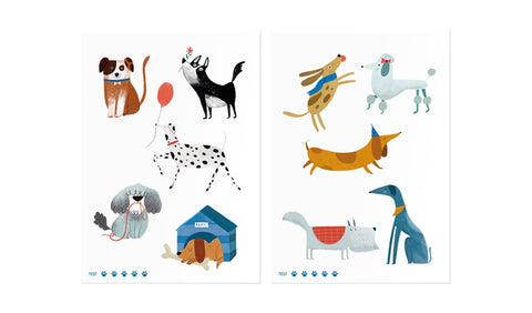 Londji  temporary tattoos chiens dogs tatouages temporaires kids enfants