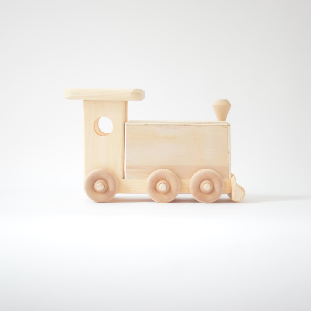 train tirelire en bois par thorpe toys