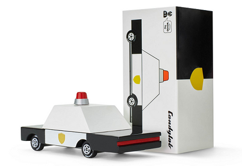 waytoplay x candylab city block route en caoutchouc rubber road and wooden police and taxi cars voitures jouet toy