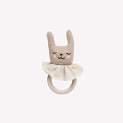 main sauvage anneau de dentition lapin rabbit teething ring
