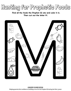 M is for Muhammad - Cut and Color PLUS Tracing - 2 Pages (Sources Included)