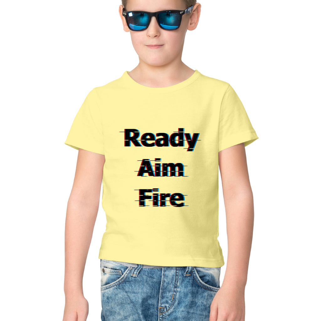 Aim Fire by Chaitanya Tarase- Kids' tee-shirt