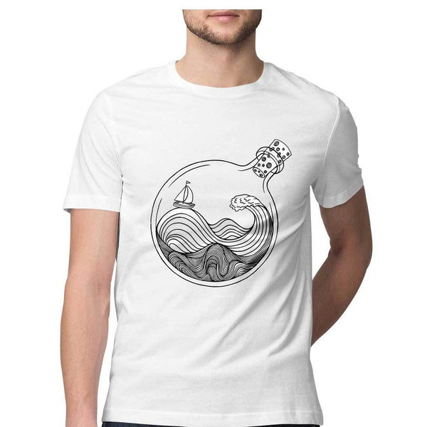 World in a bottle by Siddharth Jena – Short-Sleeve Unisex T-Shirt