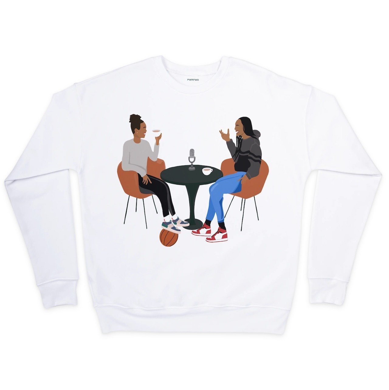 A'ja Wilson Tea Time Crew Neck Sweatshirt