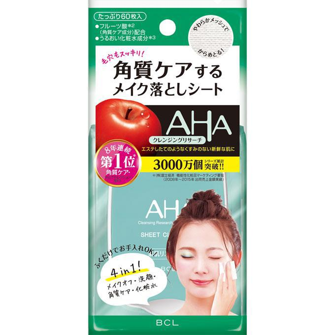 BCL Cleansing Research Cleansing Sheets 日本AHA果酸柔肤懒人卸妆湿巾