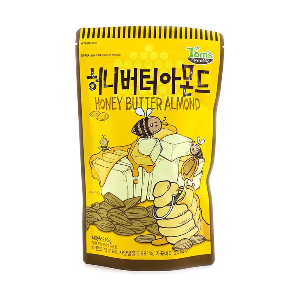 Load image into Gallery viewer, Tom's Farm Honey Butter Almond 210g 汤姆农场蜂蜜黄油杏仁