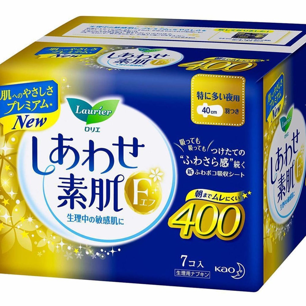 Kao Laurier Sanitary Napkin Overnight 400mm 7pc