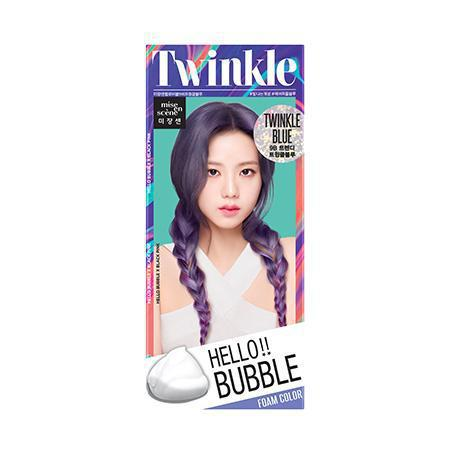 Mise en Scene Hello Bubble Twinkle Blue Foam Color 爱茉莉泡沫染发剂- 9B闪耀蓝紫