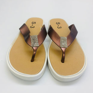 Primary Photo - BRAND:    CLOTHES MENTOR STYLE: SANDALS FLAT COLOR: BRONZE SIZE: 6 OTHER INFO: S-3 - SKU: 211-211153-268