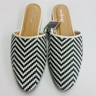 Primary Photo - BRAND:    WEST LOOP STYLE: SHOES FLATS COLOR: BLACK WHITE SIZE: 7.5 OTHER INFO: WEST LOOP - SKU: 211-21164-68027