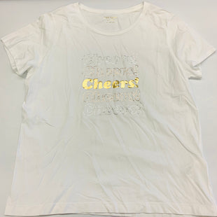 Primary Photo - BRAND: KATE SPADE STYLE: TOP SHORT SLEEVE COLOR: WHITE SIZE: XL SKU: 211-211154-2967