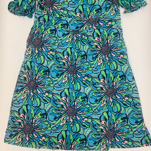 Primary Photo - BRAND: LILLY PULITZER STYLE: DRESS SHORT SHORT SLEEVE COLOR: BLUE GREEN SIZE: XL SKU: 211-21164-71039