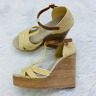 Primary Photo - BRAND: TORY BURCH STYLE: SANDALS HIGH COLOR: STRAW SIZE: 10 SKU: 211-21198-24779