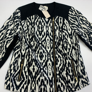 Primary Photo - BRAND: CHICOS STYLE: JACKET OUTDOOR COLOR: BLACK WHITE SIZE: L SKU: 211-21164-71161