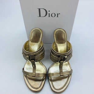 Primary Photo - BRAND: CHRISTIAN DIOR STYLE: SANDALS LOW COLOR: GOLD SIZE: 6.5 SKU: 211-21164-68084