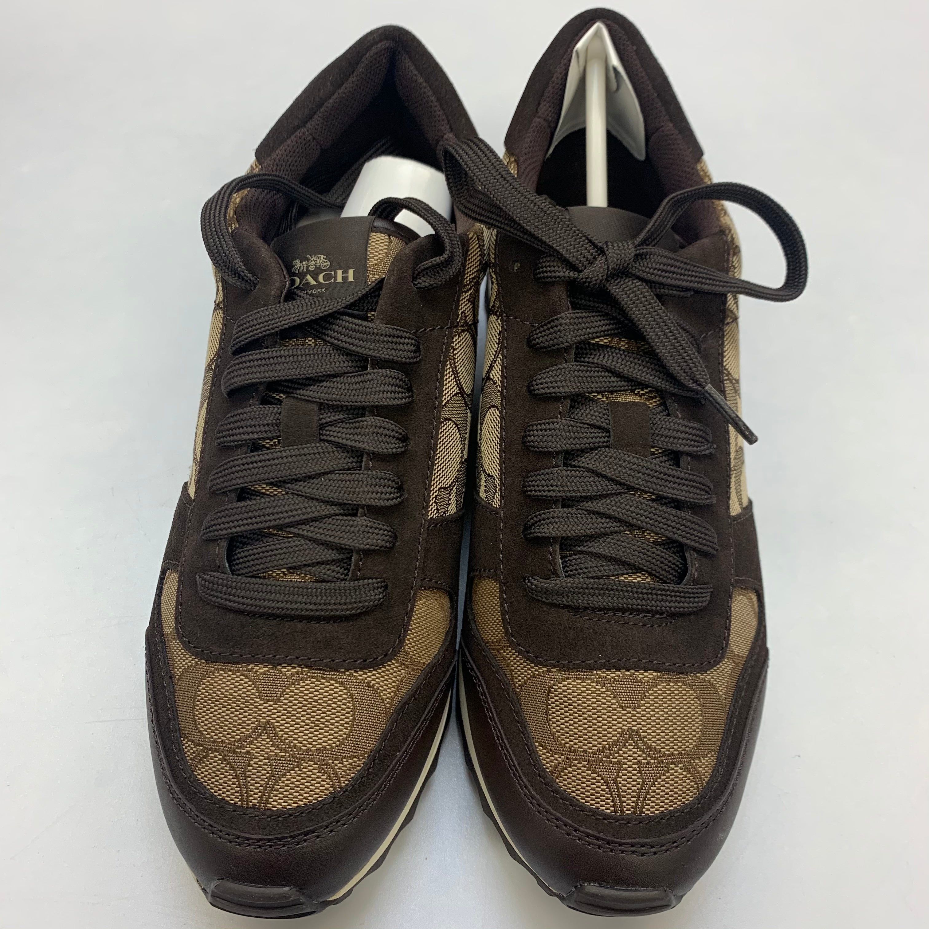 Photo #1 - BRAND: COACH <BR>STYLE: SHOES ATHLETIC <BR>COLOR: BROWN <BR>SIZE: 8 <BR>SKU: 211-21164-73658