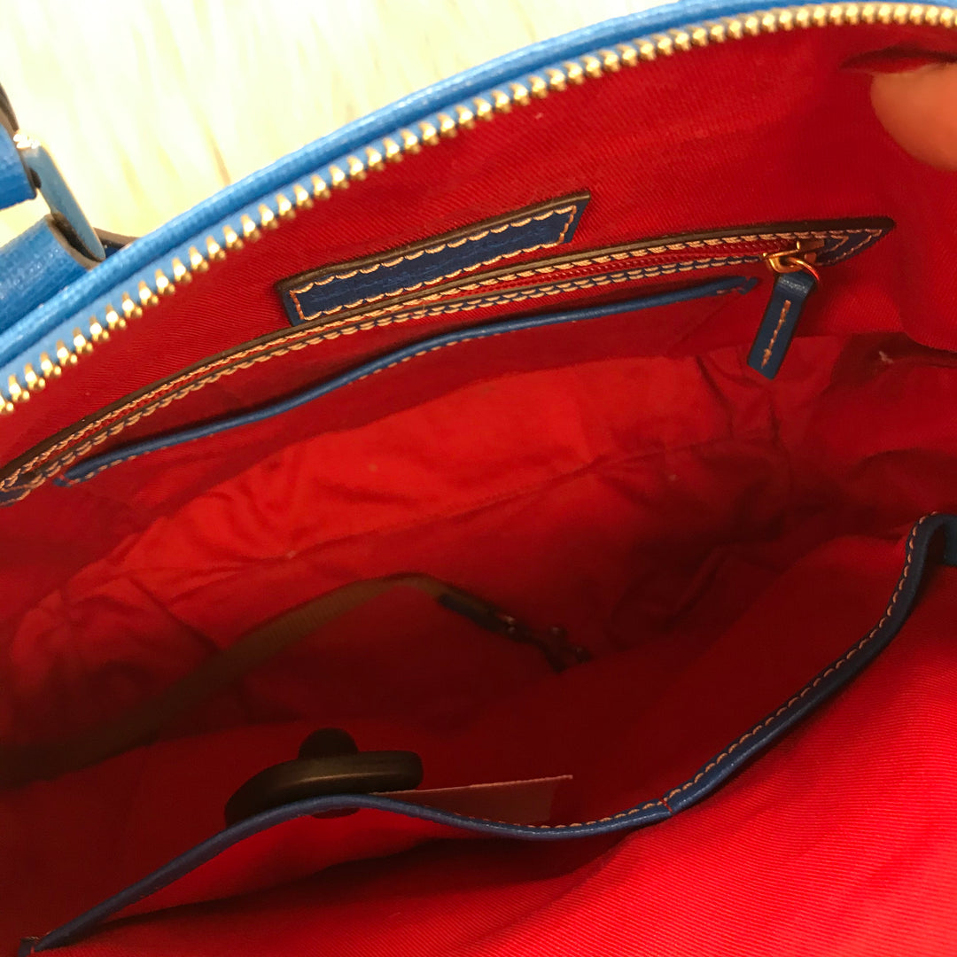 Photo #1 - BRAND: DOONEY AND BOURKE <BR>STYLE: HANDBAG DESIGNER <BR>COLOR: BLUE <BR>SIZE: MEDIUM <BR>SKU: 211-211154-2168