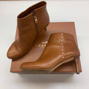 Primary Photo - BRAND: COACH STYLE: BOOTS ANKLE COLOR: CAMEL SIZE: 7.5 SKU: 211-211148-1362