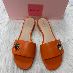 Primary Photo - BRAND: KATE SPADE STYLE: SANDALS FLAT COLOR: ORANGE SIZE: 8.5 SKU: 211-21164-72602