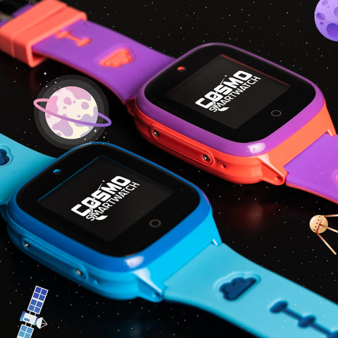 The COSMO Smartwatch comes in pink, blue, and black