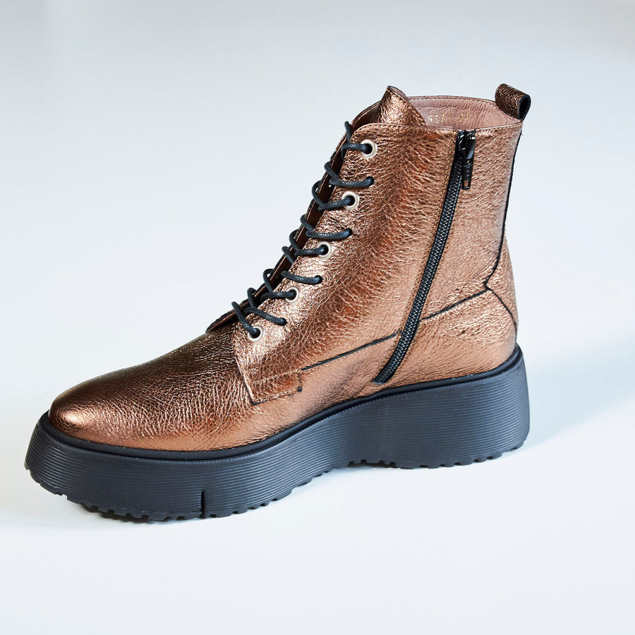Wonders Bronze Ankle Boot