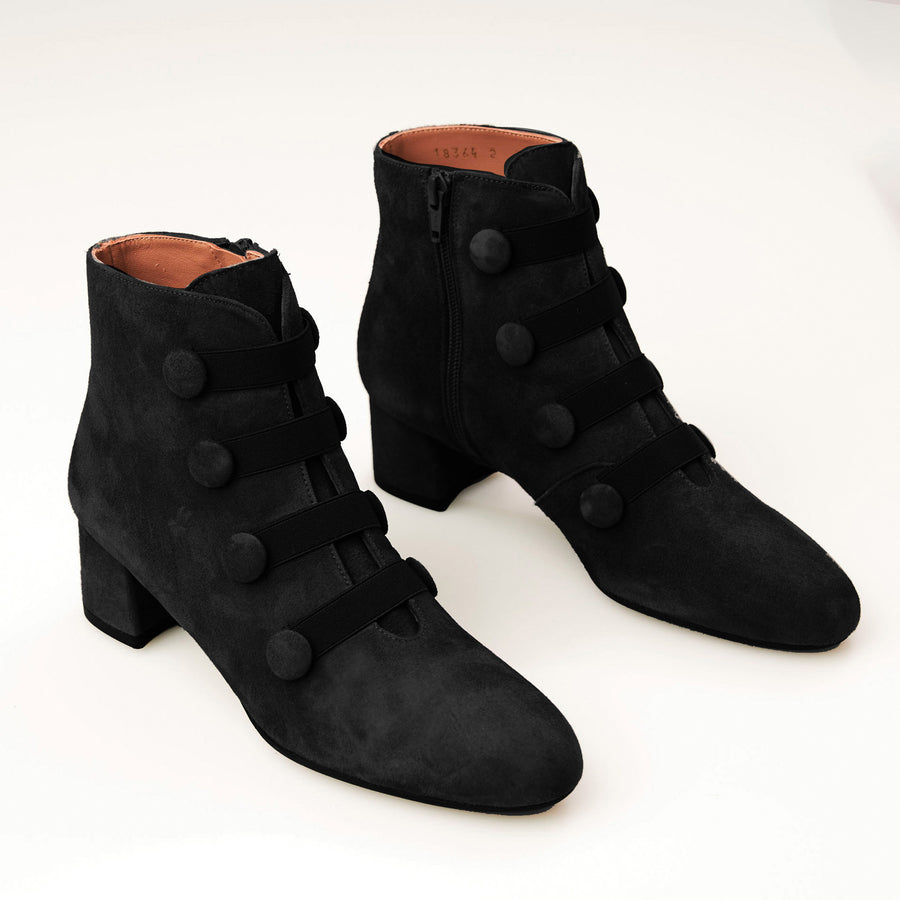 Brenda Zaro Black or Grey Ankle Boot
