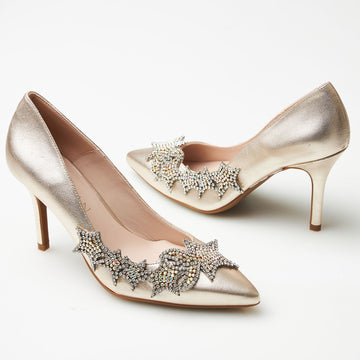 Marian Metallic High Heels - nozomishoes.ie