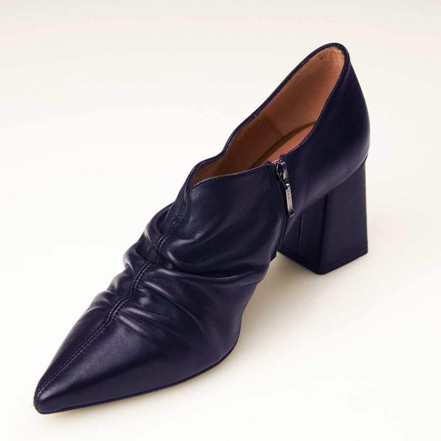 Marian Black or Navy High Front Shoe