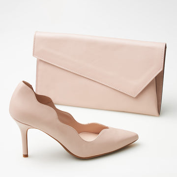 Marian Nude Clutch Bag - nozomishoes.ie