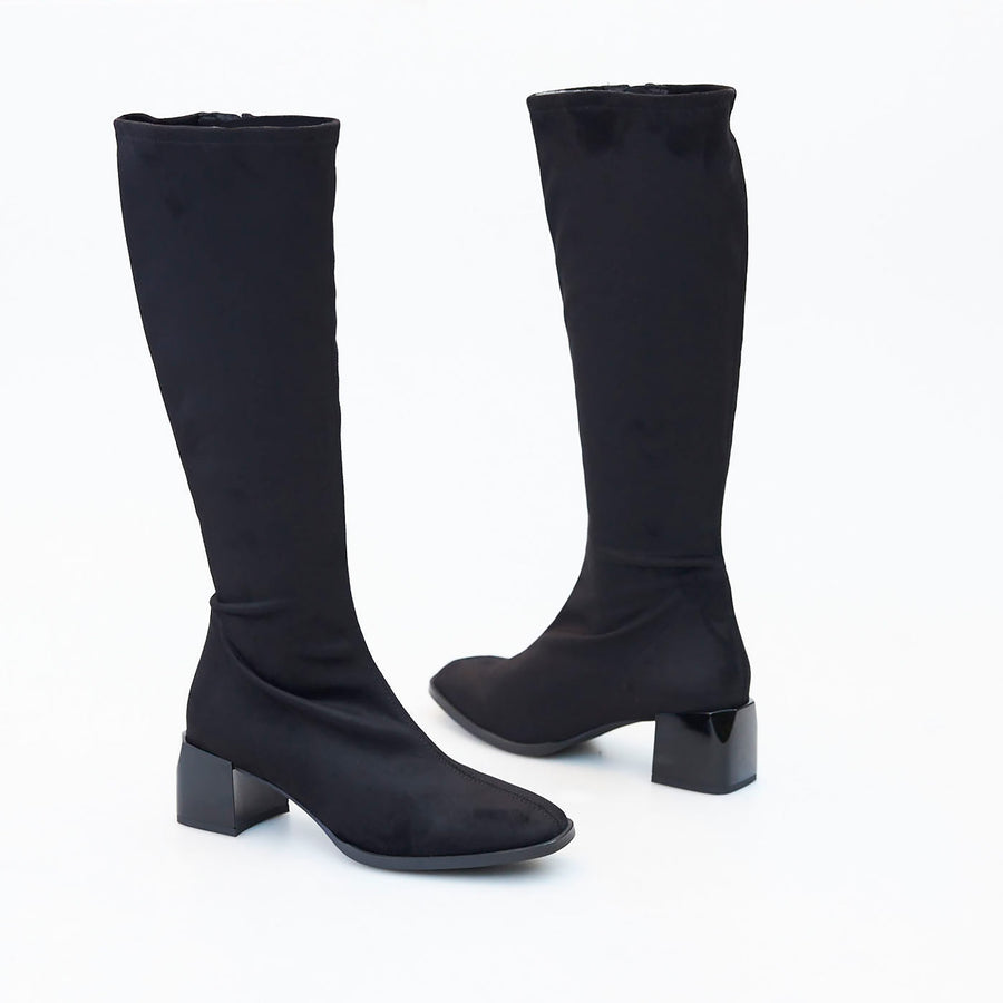 Nozomi Black or Brown Stretch Boot