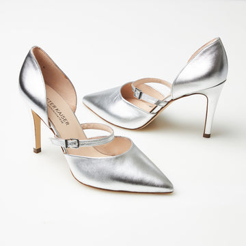 Peter Kaiser Silver High Heels - nozomishoes.ie