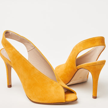 Renatta Mustard Slingback Shoes - nozomishoes.ie