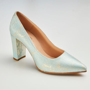 Brenda Zaro Aqua or Pale Coral Court Shoes - nozomishoes.ie