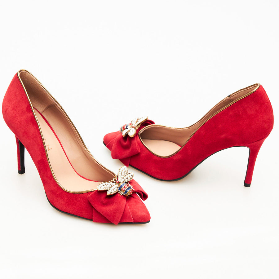 Marian Red Court Shoe