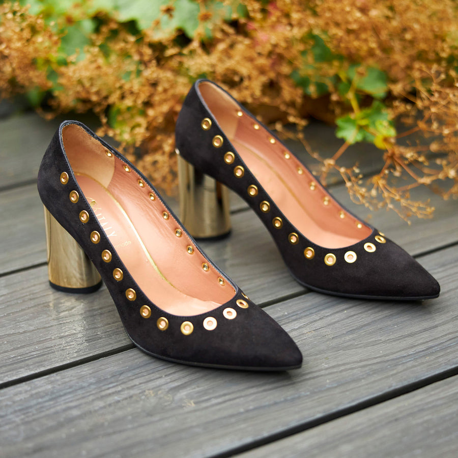 Oxitaly Suede Court Shoe