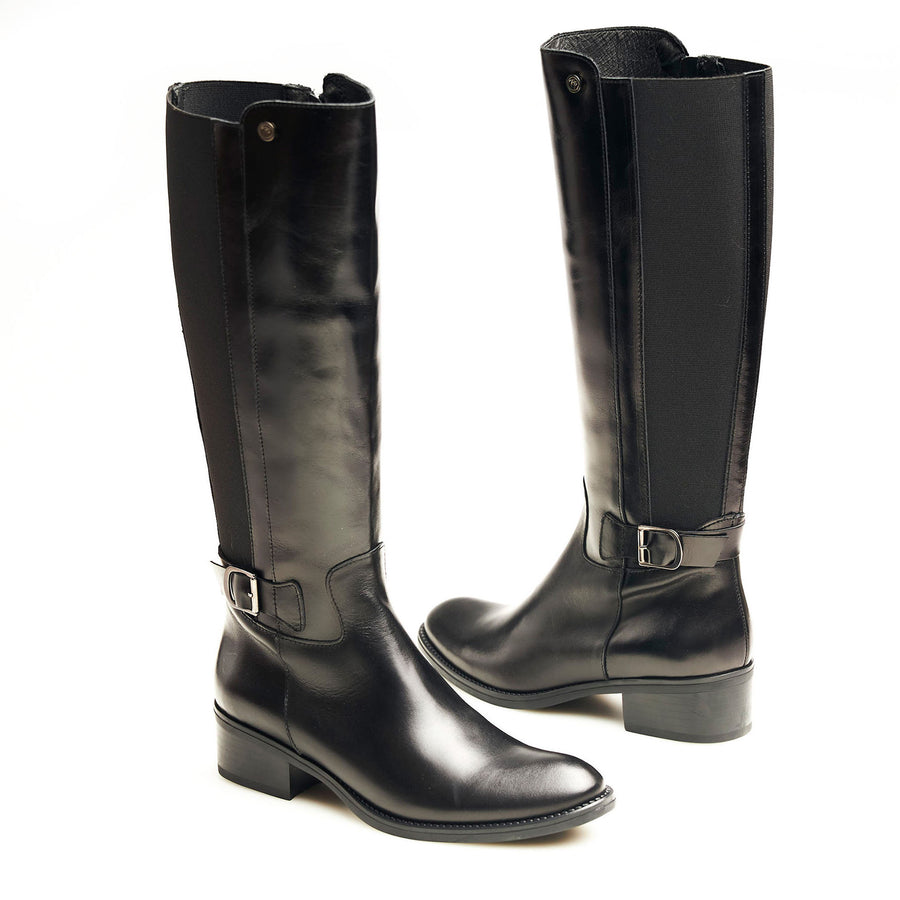 Toni Pons Black Knee High Boots - nozomishoes.ie