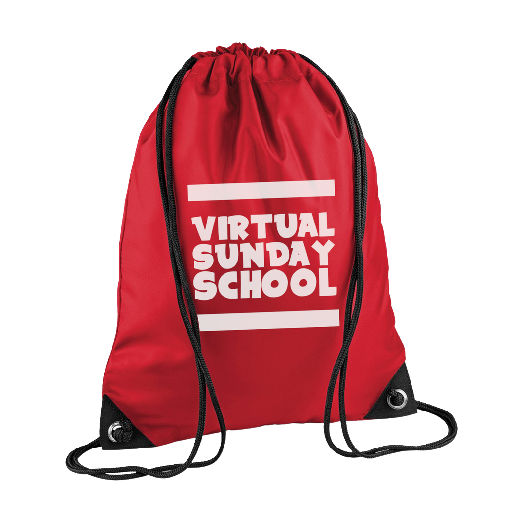 (SALE) RED Drawstring BAG
