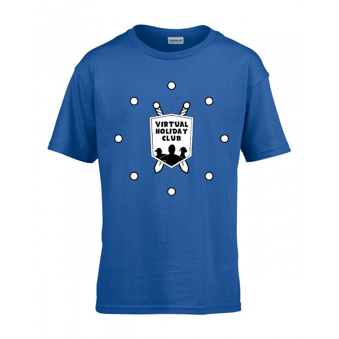 (SALE) ADULT Blue Virtual Holiday Club T-Shirt