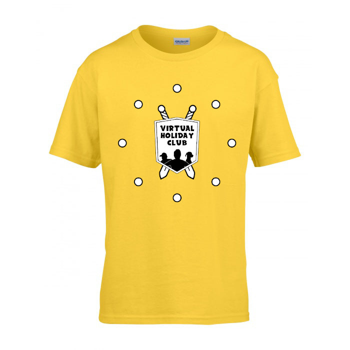 (SALE) CHILD'S Yellow Virtual Holiday Club T-shirt