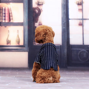 Dog Striped Suit Shirt - PetCareSunday