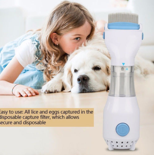 Electric Pet Head Vacuum Lice comb