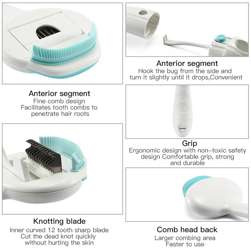 3 in 1 Dense Tooth Comb Pet Hair Shedding Brush - PetCareSunday